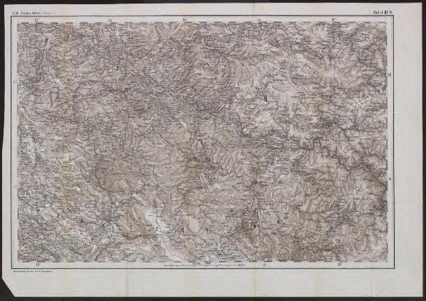 [Generalkarte von Bosnien und der Hercegovina] K. 11. Bosna Seraj (Mostar)