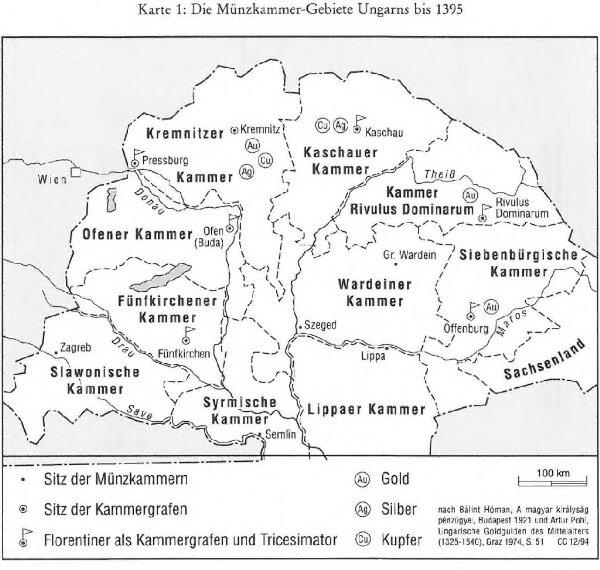 Die Münzkammer-Gebiete Ungarns bis 1395