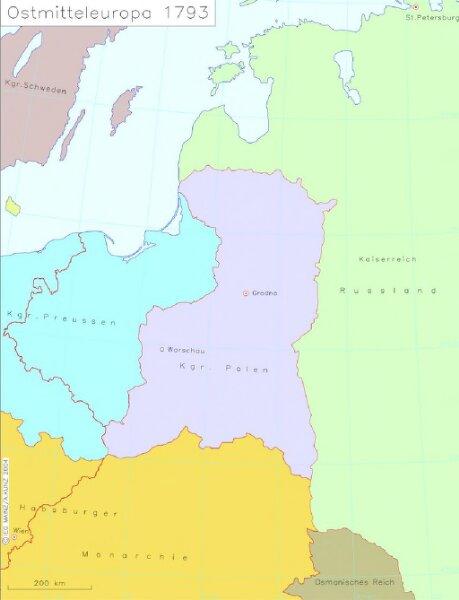 Ostmitteleuropa 1793
