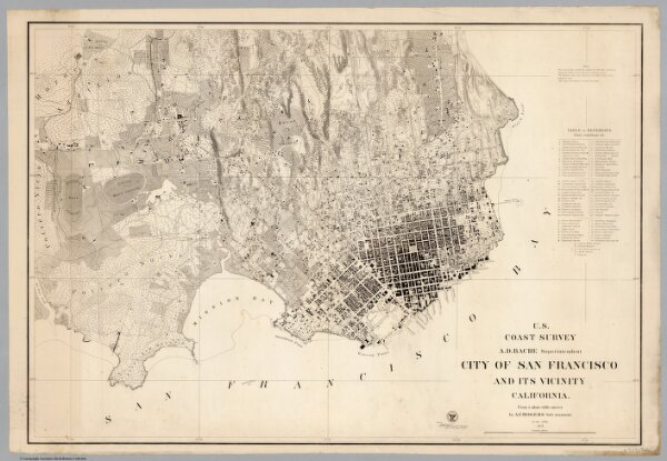 U.S. Coast Survey: City Of San Francisco And Its Vicinity California