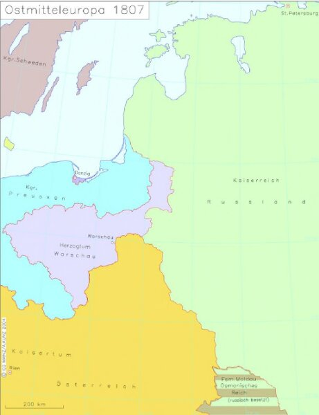 Ostmitteleuropa 1807