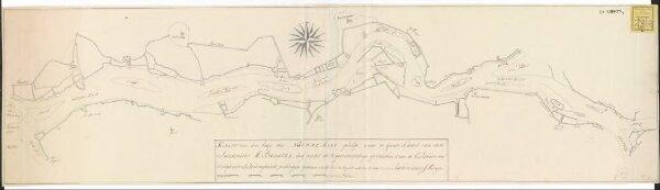 Kaart van den loop der Nieuwe Maas gevolgd naar de groote kaart van den landmeeter M. Bolstra