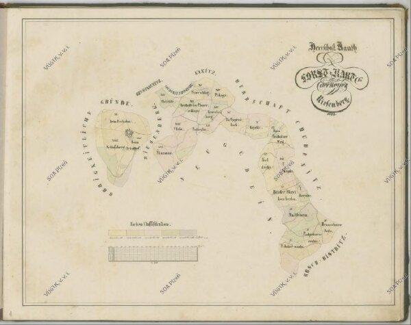 Mapy lesních porostů velkostatku Kout - revír Podzámčí