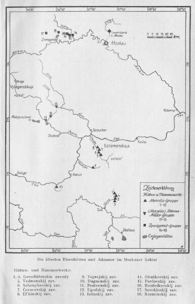 Die ältesten russischen Eisenhütten und -hämmer im Moskauer Gebiet
