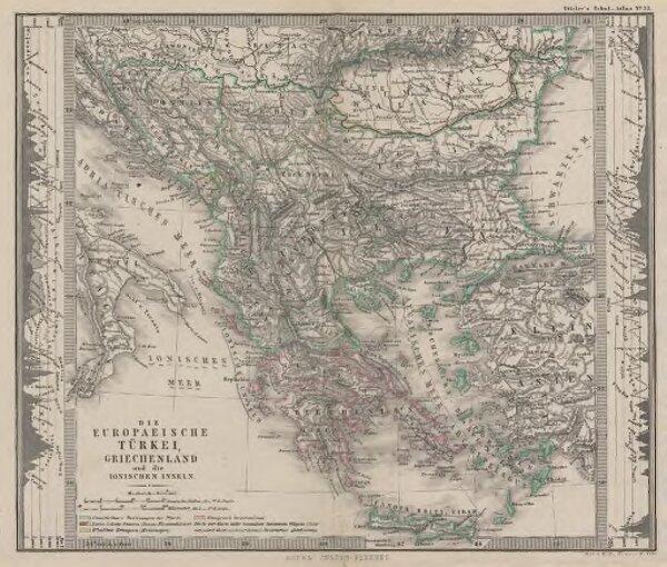 Die Europaeische Türkei, Griechenland und die Ionischen Inseln