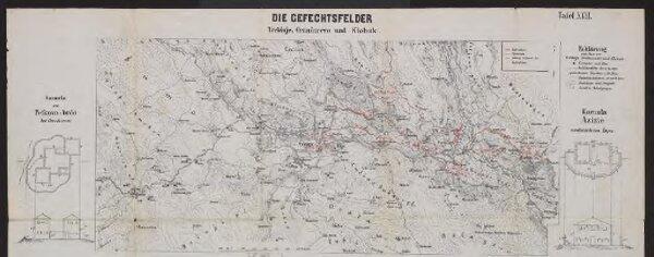 Die Gefechtsfelder Trebinje, Grančarevo und Klobuk
