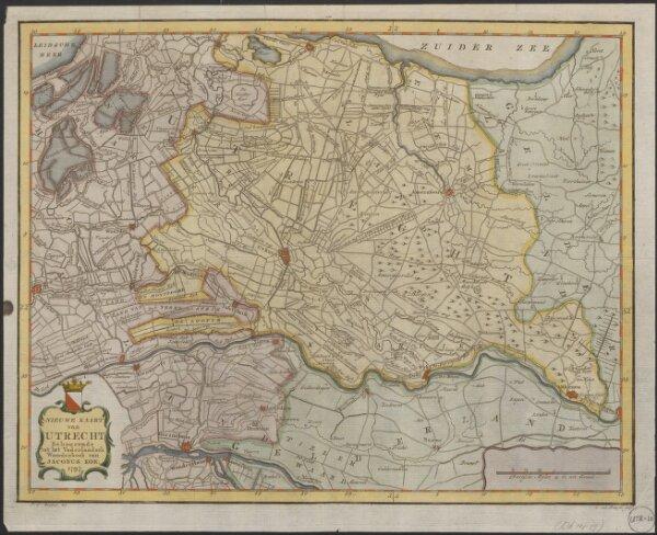 Nieuwe kaart van Utrecht behoorende tot het Vaderlandsch woordenboek van Jacobus Kok