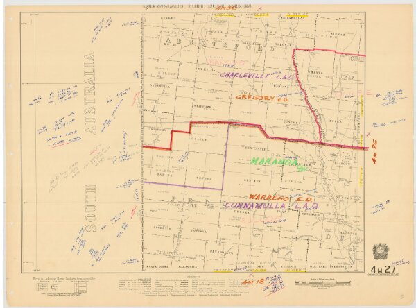 Queensland Four Mile Second series sheet 4m27