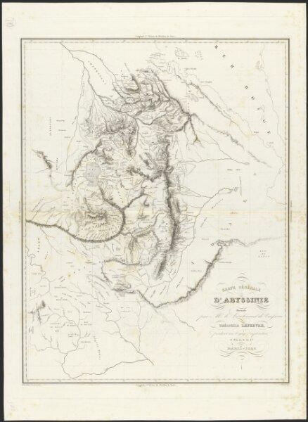 Carte générale d'Abyssinie