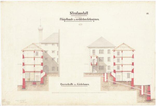 Kantonale Strafanstalt Oetenbach: Um- und Ausbau; Frauenabteilung, Küchenbau; Querschnitte