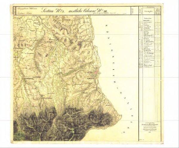 II. vojenské (Františkovo) mapování - Morava, mapový list O_5_XIII