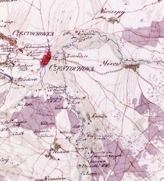 Gilly mapa Czestochowy 1793.jpg