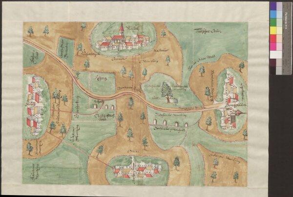 HZAN GA 100_Nr. 1234_ : HohenloheAbriss der mit Würzburg strittigen Markungsgrenze