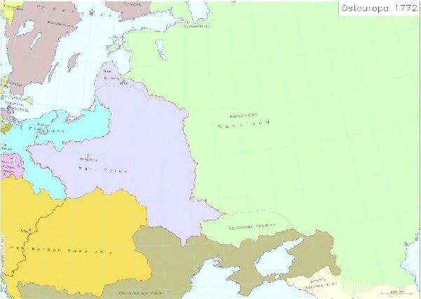 Osteuropa 1772
