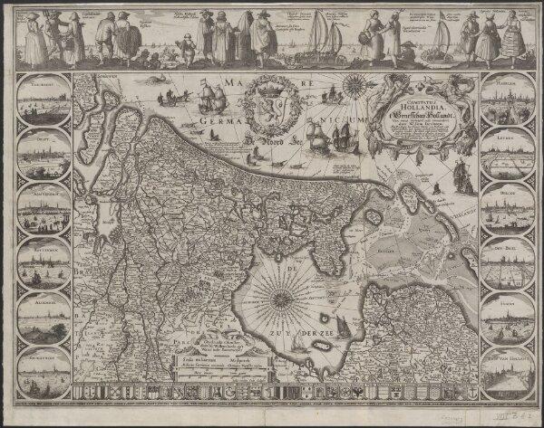 Comitatus Hollandia = 't Graefschap Hollandt