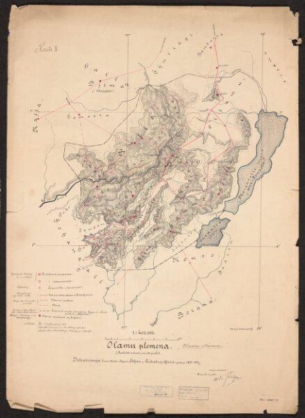Djibouti to Lake Rudolf. Created by Mirko Seljan and Stjepan Seljan. 'Country N.of L.Rudolf to Omo R.' - War Office ledger