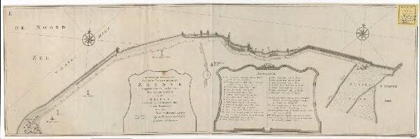 Naukeurige afbeeldingh van den tegenwoordigen zeedyk leggende voor de landen van Huysduynen en de Helder, strekkende van het Nieuwe Diep tot aan Kykduyn
