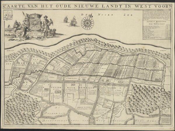 Caarte van het oude nieuwe landt in West Voorn