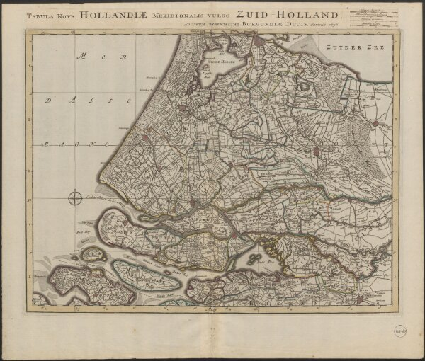 Tabula nova Hollandiæ Meridionalis vulgo Zuid-Holland ad usum serenissimi Burgundiæ ducis