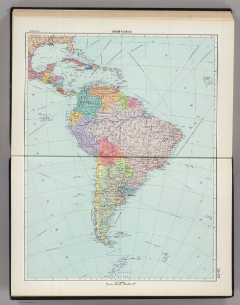 221-222.  South America, Political.  The World Atlas.