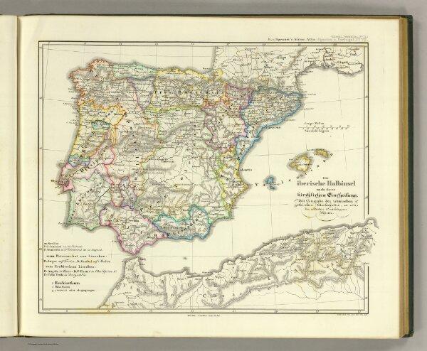 Die iberische Halbinsel nach ihrer kirchlichen Eintheilung.