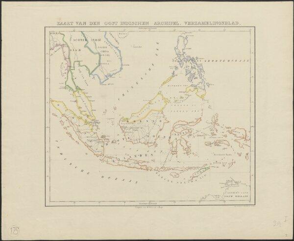 Kaart van den Oost Indischen Archipel. Verzamelingsblad