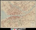 Plan der Stadt Zürich und Umgebung mit Angabe der Hausnummern