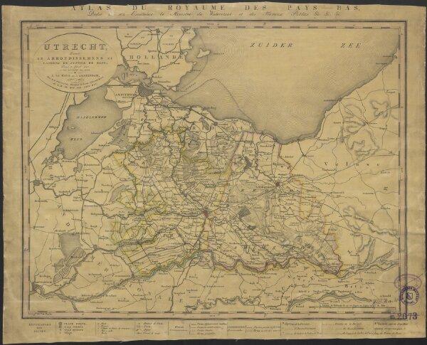 Utrecht, divisé en arrondissemens et cantons de justice de paix