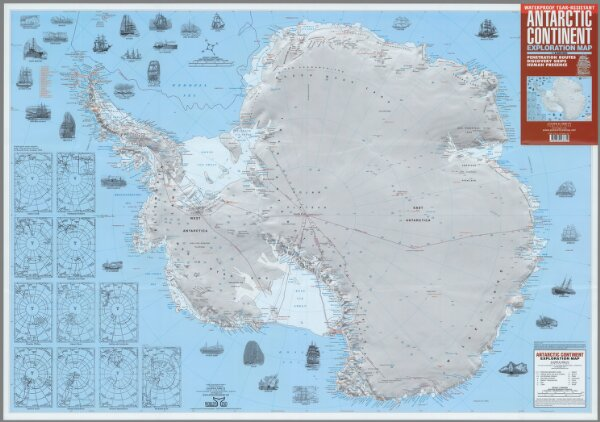 Antarctic Continent: Exploration Map