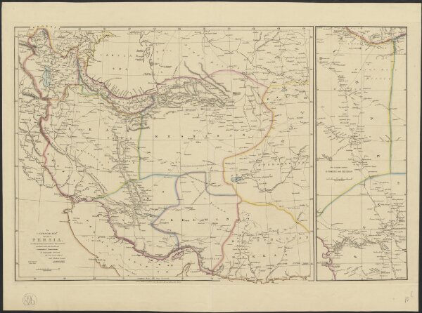 To J.B. Fraser Esqr. this map of Persia, on which the country between Busheer, Teheran, Mushed and Reshd is laid down from his own astronomical observations, is respectfully dedicated