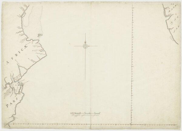 Kaart van de Lagoabaai tot benoorden Soffala en een deel van Madagascar
