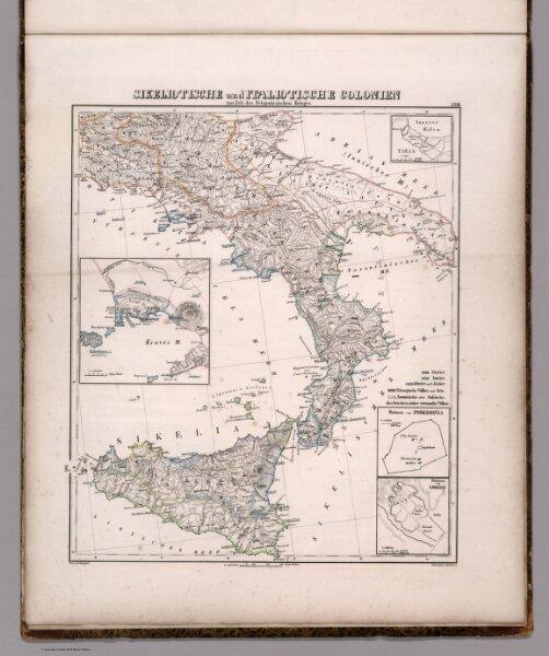Sikeliotische und Italiotische Colonien zur Zeit des Peloponnesischen Krieges