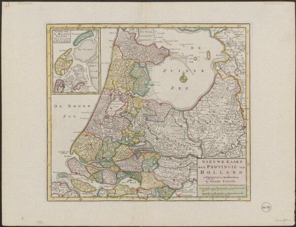Nieuwe kaart der provincie van Holland