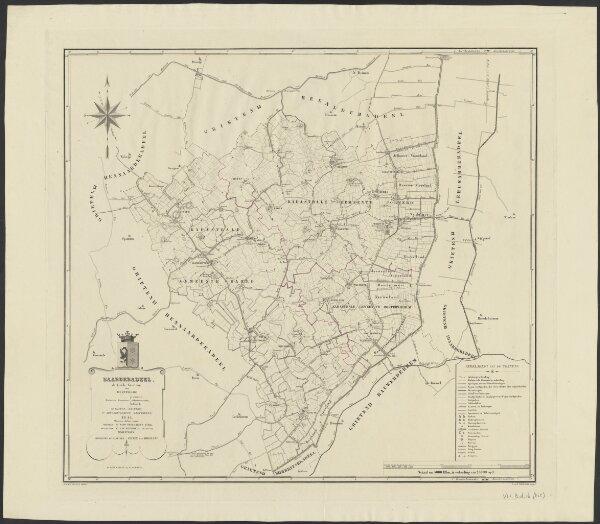 Baarderadeel, de vierde grietenij van Westergoo : kadastrale gemeenten 1. Jorwerd 2. Oostwierum 3. Baard, VIe kanton (Rauwerd), Ie arrondissement (Leeuwarden) 1844 ...