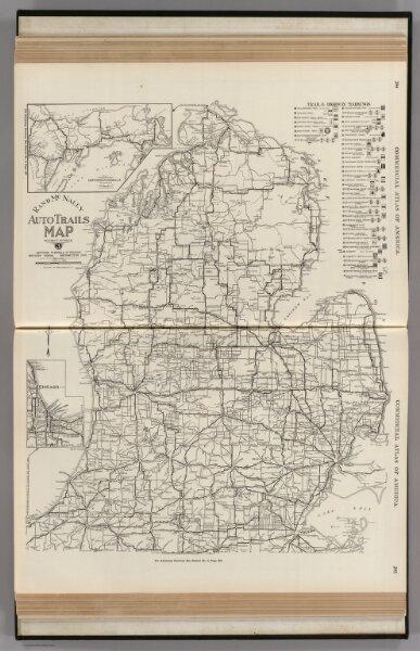 AutoTrails Map, Southern Peninsula of Michigan, Northern Indiana ...
