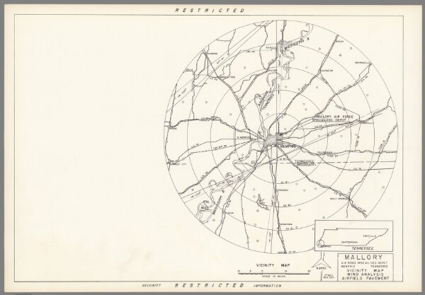 Mallory Specialized Air Force Depot : Memphis, Tennessee : Vicinity map.