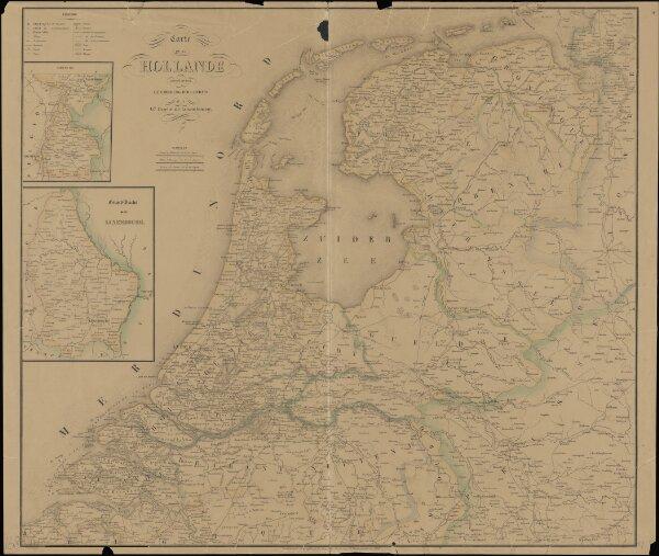 Carte de la Hollande comprenant le Limbourg Hollandais et le Gd. Duché de Luxembourg.