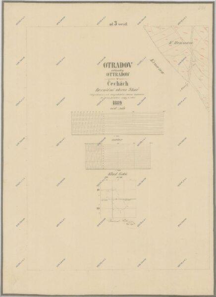 Katastrální mapa pro obec Otradov