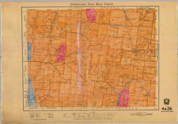 Queensland Four Mile Second series sheet 4m26