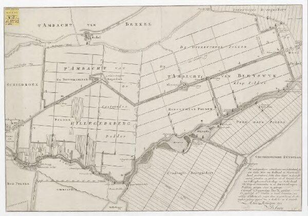 ['t Ambacht van Hillegersberg, 't Ambacht van Bleyswijk, Eendragts Droogmakery, Twee Mans Polder]: ... na de metingen, en gedaane opgaven van C. Beket en C. Swieb. Actum Rotterdam 1770. D. Smits,