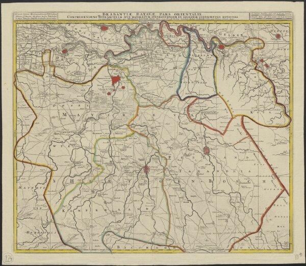 Brabantiae Batavae pars orientalis, comprehendens tetrarchiam sive majoratum Sylvaeducensem in ejusdem subjacentes ditiones
