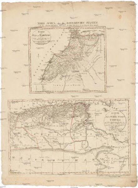 Karte von Fes und Marócos