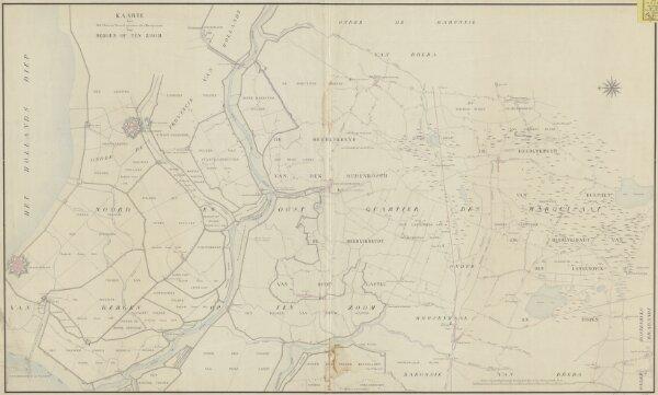 Kaarte van het Oost en Noord quartier des Marquisaat van Bergen op Ten Zoom : [getrokken uit de kaart van B. Adam t. Wouw, 1791]