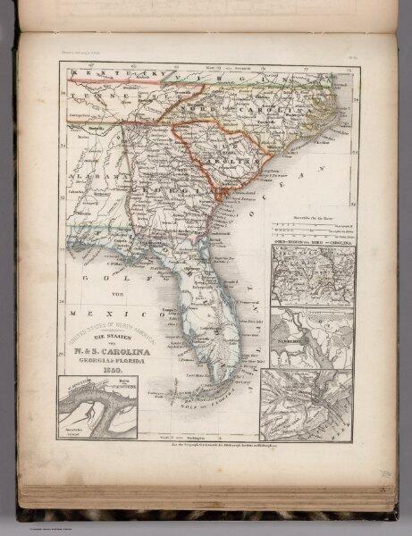 Die staaten von N. & S. Carolina, Georgia & Florida 1850