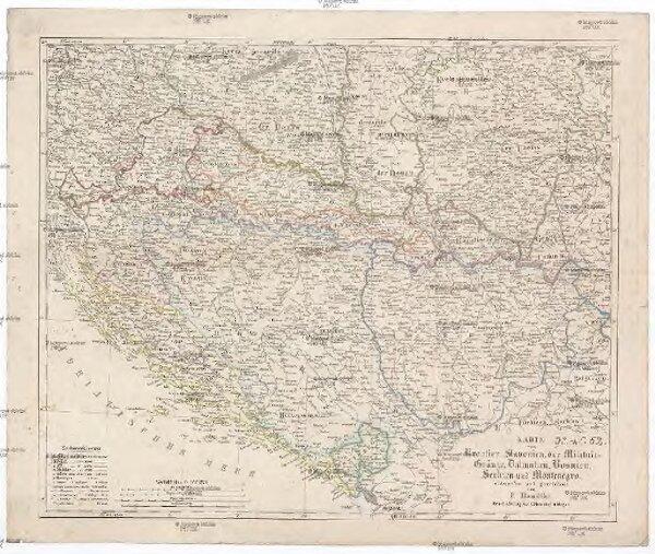 Karte Montenegro Kroatien.Karte Von Kroatien Slavonien Der Militair Granze