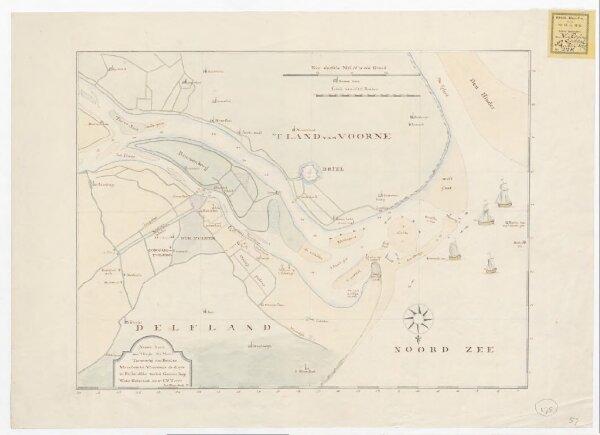 Nieuwe kaart van 't begin der Maas tot voorbij den Briel en Maassluis tot Vlaardinge de diepte in Rijnlandsche voeten gemeen laag water