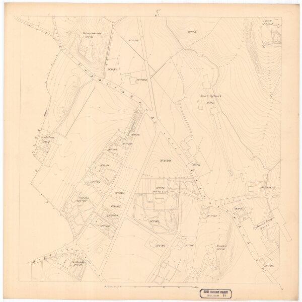 Kristiania amt nr 58: Detailkart over Christiania efter Kommunebestyrelsens Foranstaltning trigonometrisk og geometrisk opmaalt