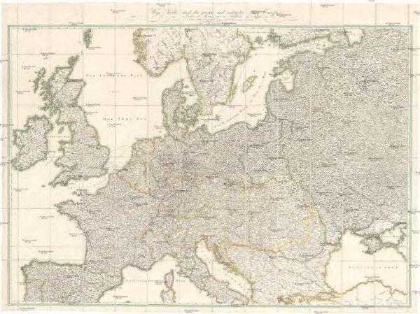 Wege-Karte durch den grösten und wichtigsten Theil Europa's