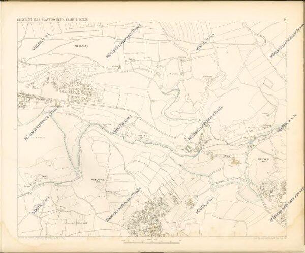 Orientační plán hlavního města Prahy s okolím