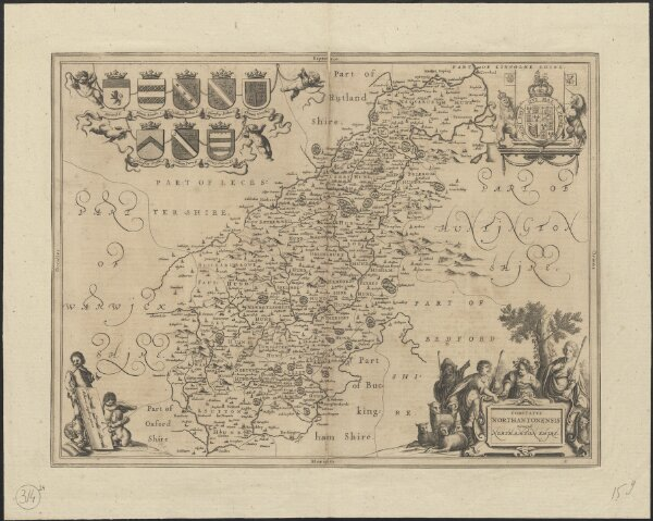 Comitatus Northantonensis vernacule Northamton Shire